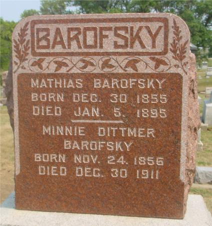 BAROFSKY, MINNIE - Ida County, Iowa | MINNIE BAROFSKY