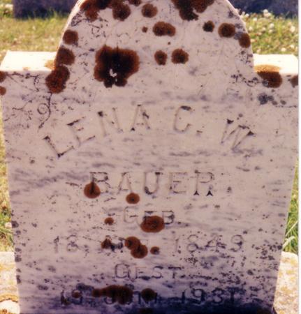 BAUER, LENA C.W. - Ida County, Iowa | LENA C.W. BAUER