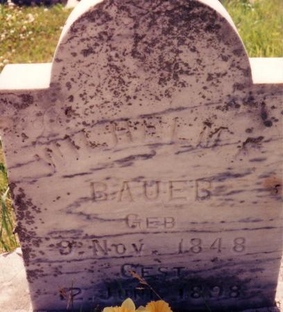BAUER, WILHELM F. - Ida County, Iowa | WILHELM F. BAUER