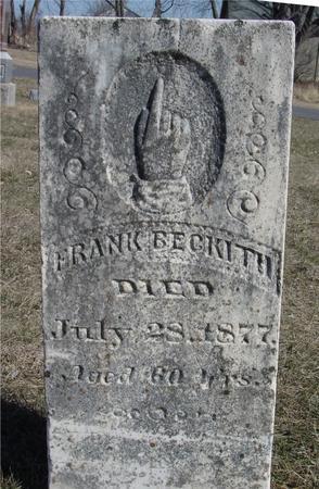 BECKWITH, FRANK - Ida County, Iowa | FRANK BECKWITH