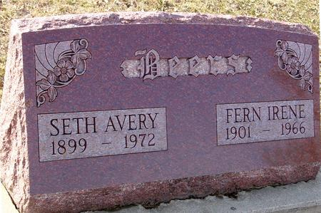 BEERS, SETH AVERY & FERN - Ida County, Iowa | SETH AVERY & FERN BEERS