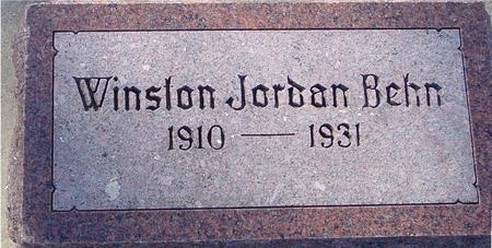 BEHN, WINSTON JORDAN - Ida County, Iowa | WINSTON JORDAN BEHN
