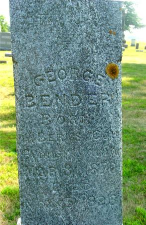 BENDER, GEORGE - Ida County, Iowa | GEORGE BENDER