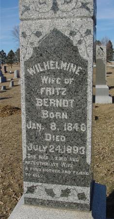 BERNDT, WILHELMINE - Ida County, Iowa | WILHELMINE BERNDT