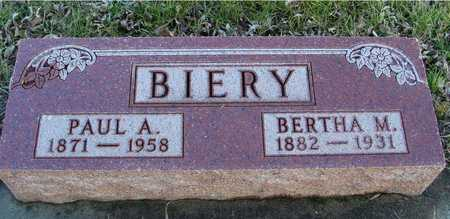 BIERY, PAUL & BERTHA M. - Ida County, Iowa | PAUL & BERTHA M. BIERY