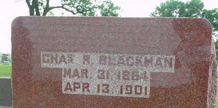 BLACKMAN, CHARLES R. - Ida County, Iowa   CHARLES R. BLACKMAN