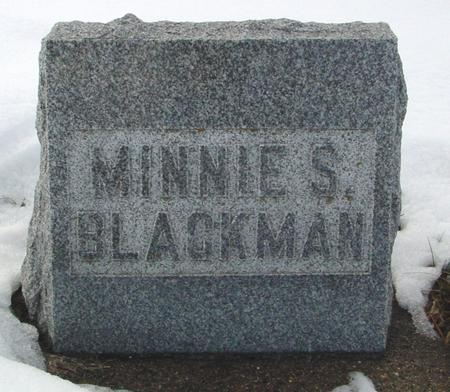 BLACKMAN, MINNIE S. - Ida County, Iowa | MINNIE S. BLACKMAN