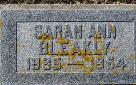BLEAKLY, SARAH ANN - Ida County, Iowa | SARAH ANN BLEAKLY