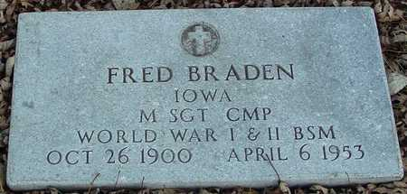 BRADEN, FRED - Ida County, Iowa | FRED BRADEN