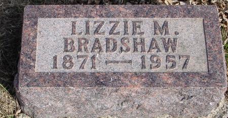 BRADSHAW, LIZZIE M. - Ida County, Iowa   LIZZIE M. BRADSHAW