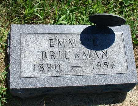BRICKMAN, EMMA E. - Ida County, Iowa | EMMA E. BRICKMAN