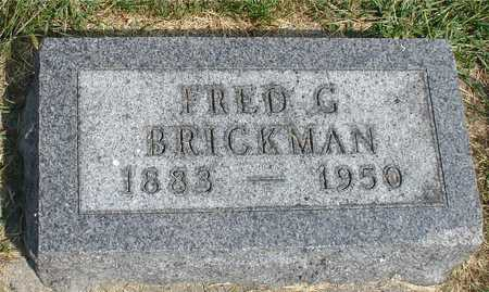 BRICKMAN, FRED G. - Ida County, Iowa | FRED G. BRICKMAN