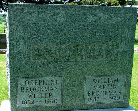 BROCKMAN, WILLIAM & JOSEPHINE - Ida County, Iowa   WILLIAM & JOSEPHINE BROCKMAN