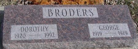 BRODERS, GEORGE & DOROTHY - Ida County, Iowa | GEORGE & DOROTHY BRODERS