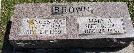BROWN, FRANCES & MARY A. - Ida County, Iowa | FRANCES & MARY A. BROWN