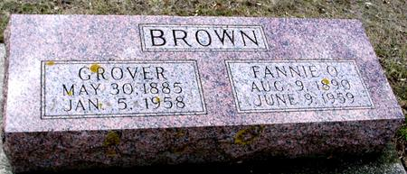 BROWN, GROVER & FANNIE O. - Ida County, Iowa | GROVER & FANNIE O. BROWN