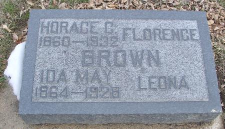 BROWN, HORACE & IDA MAY - Ida County, Iowa | HORACE & IDA MAY BROWN