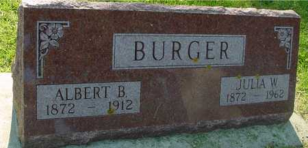BURGER, ALBERT B. & JULIA - Ida County, Iowa | ALBERT B. & JULIA BURGER