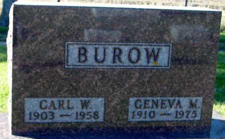 BUROW, CARL & GENEVA - Ida County, Iowa | CARL & GENEVA BUROW
