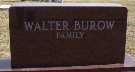 BUROW, FAMILY MARKER - Ida County, Iowa | FAMILY MARKER BUROW