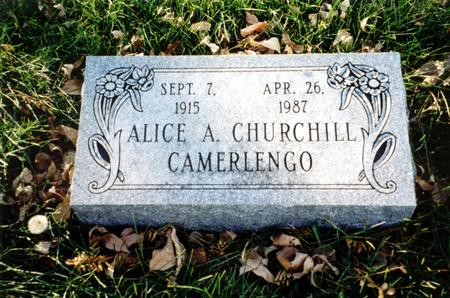 CHURCHILL CAMERLENGO, ALICE A. - Ida County, Iowa | ALICE A. CHURCHILL CAMERLENGO