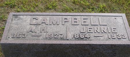 CAMPBELL, A. H. & JENNIE - Ida County, Iowa   A. H. & JENNIE CAMPBELL