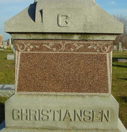 CHRISTIANSEN, FAMILY MARKER - Ida County, Iowa | FAMILY MARKER CHRISTIANSEN