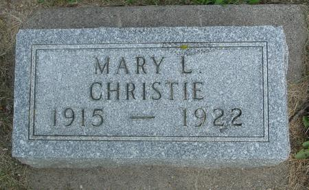 CHRISTIE, MARY L. - Ida County, Iowa | MARY L. CHRISTIE