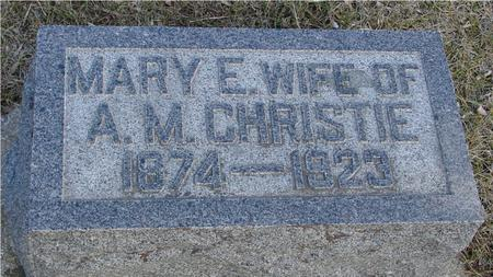 CHRISTIE, MARY E. - Ida County, Iowa   MARY E. CHRISTIE