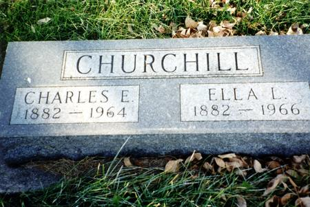 CHURCHILL, ELLA L. - Ida County, Iowa | ELLA L. CHURCHILL