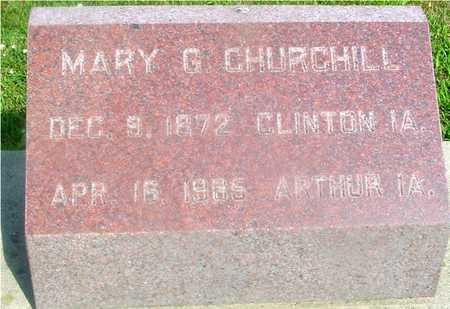 CHURCHILL, MARY G. - Ida County, Iowa | MARY G. CHURCHILL