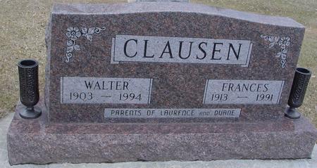 CLAUSEN, WALTER & FRANCES - Ida County, Iowa   WALTER & FRANCES CLAUSEN