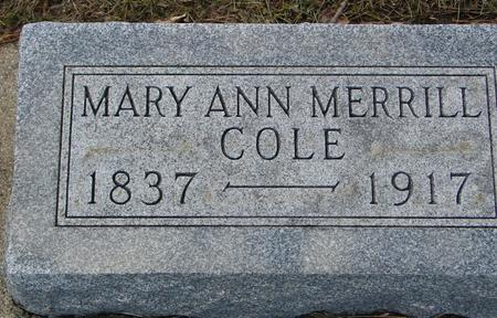 COLE, MARY ANN - Ida County, Iowa | MARY ANN COLE