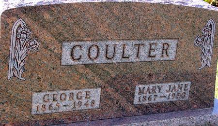 COULTER, GEORGE & MARY J. - Ida County, Iowa | GEORGE & MARY J. COULTER