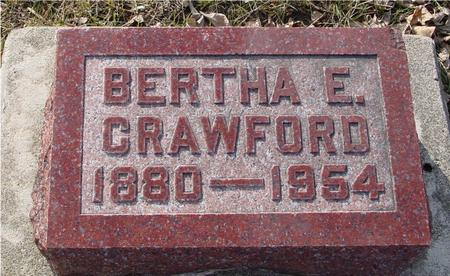 CRAWFORD, BERTHA E. - Ida County, Iowa | BERTHA E. CRAWFORD