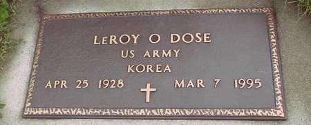 DOSE, LEROY O. - Ida County, Iowa | LEROY O. DOSE