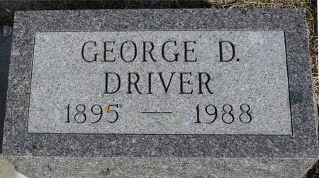 DRIVER, GEORGE D. - Ida County, Iowa | GEORGE D. DRIVER