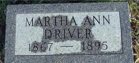 DRIVER, MARTHA ANN - Ida County, Iowa | MARTHA ANN DRIVER