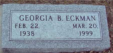 ECKMAN, GEORGIA B. - Ida County, Iowa | GEORGIA B. ECKMAN