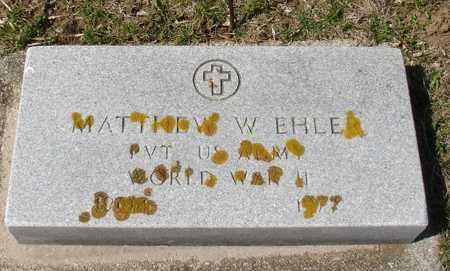 EHLER, MATTHEW W. - Ida County, Iowa | MATTHEW W. EHLER