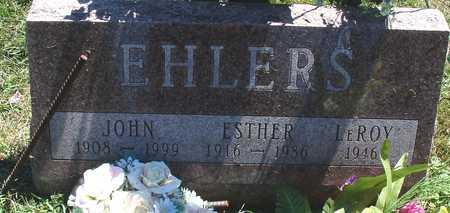 EHLERS, JOHN & ESTHER - Ida County, Iowa | JOHN & ESTHER EHLERS