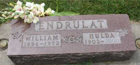 ENDRULAT, WILLIAM & HULDA - Ida County, Iowa | WILLIAM & HULDA ENDRULAT
