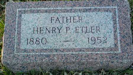 ETLER, HENRY P. - Ida County, Iowa | HENRY P. ETLER