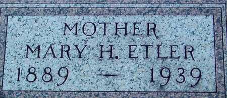 ETLER, MARY H. - Ida County, Iowa | MARY H. ETLER