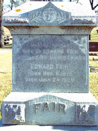 FAIR, EDWARD & MARTHA - Ida County, Iowa | EDWARD & MARTHA FAIR
