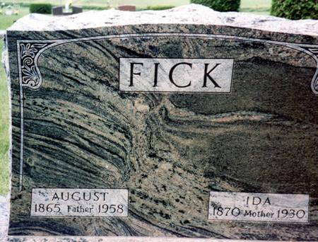 FICK, AUGUST - Ida County, Iowa | AUGUST FICK