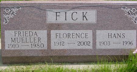 FICK, FRIEDA - Ida County, Iowa | FRIEDA FICK