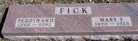 FICK, FERDINAND & MARY - Ida County, Iowa | FERDINAND & MARY FICK
