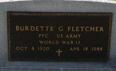 FLETCHER, BURDETTE G. - Ida County, Iowa | BURDETTE G. FLETCHER