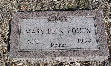 FEIN FOUTS, MARY - Ida County, Iowa | MARY FEIN FOUTS